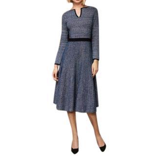 The Fold Blue Knit Alder Dress