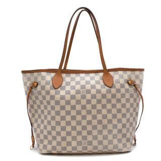 Louis Vuitton Damier Azur Canvas Neverfull MM Tote Bag
