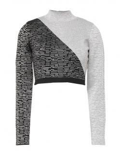 Jonathan Simkhai Two-Tone Cropped Sweater