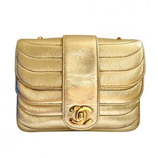 Chanel Vintage Gold Square Mini Flap Bag
