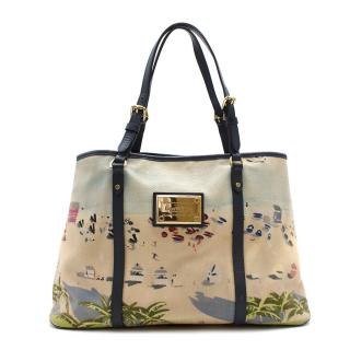 Louis Vuitton Ailleurs Cabas Limited Edition Printed Canvas Bag