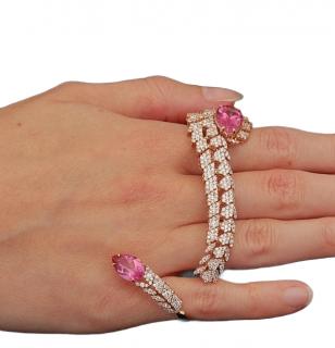 Bespoke 18ct Rose Gold Diamond & Tourmaline Hand Bag