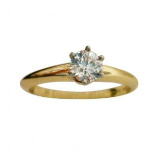 Tiffany & Co. 18ct Yellow Gold Diamond Solitaire Ring