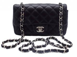 Chanel Black Lambskin Mini Flap Bag