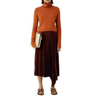 Joseph Sabin Knit Weave Pliss� Skirt