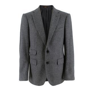 Cifonelli Grey Herringbone Wool Jacket
