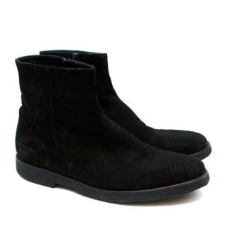 Common Projects Black Suede Boots