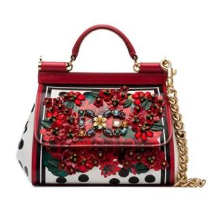 Dolce & Gabbana Portofino-print Calfskin Mini Sicily Bag