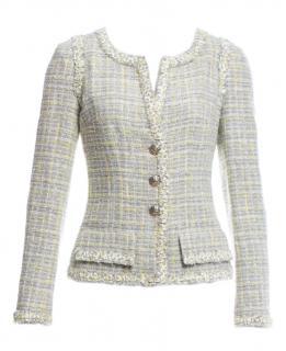 Chanel Pistachio Lesage Tweed Paris/London Jacket
