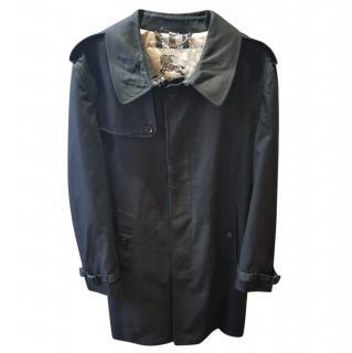 Burberry Men's Black Classic Trench Coat