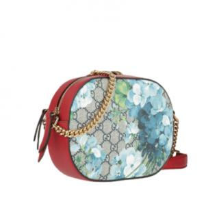 Gucci Blooms Leather Trimmed Camera Bag