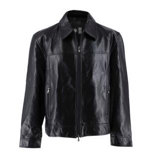 Gianni Versace Vintage Leather Biker Jacket