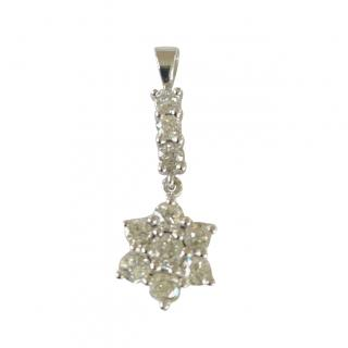 Bespoke 18ct White Gold Diamond Star Pendant