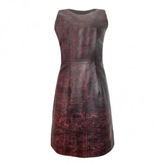 Christopher Kane leather Sleeveless dress