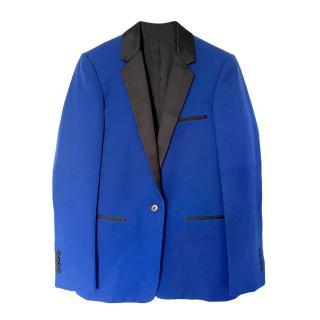 Celine Blue Wool Tuxedo Jacket
