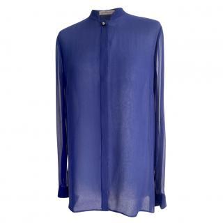 Matthew Williamson Blue Silk Chiffon Blouse