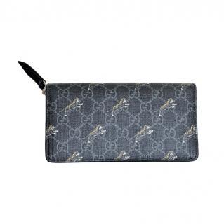 Gucci Supreme Tiger Print Zip-Around Wallet