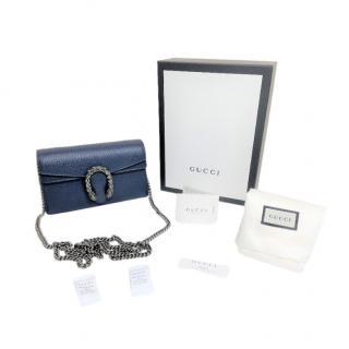 Gucci Blue Super Mini Dionysus Bag