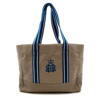 Hackett Henley Royal Regatta Beige & Blue Tote Bag