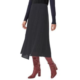 Cefinn Black Alix Panelled Asymmetric Maxi Skirt
