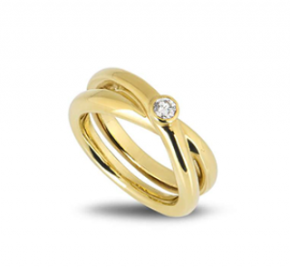 Tiffany & Co. Paloma Picasso Solitaire Crossover Ring