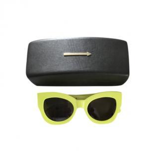 Karen Walker Neon Cat-Eye Sunglasses