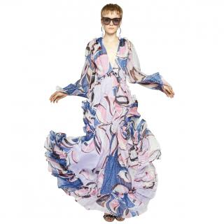 Emilio Pucci Lavender Silk Embellished Gown