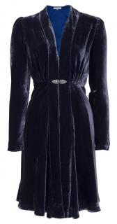 Libelula Black Silk Velvet Dulwich Coat
