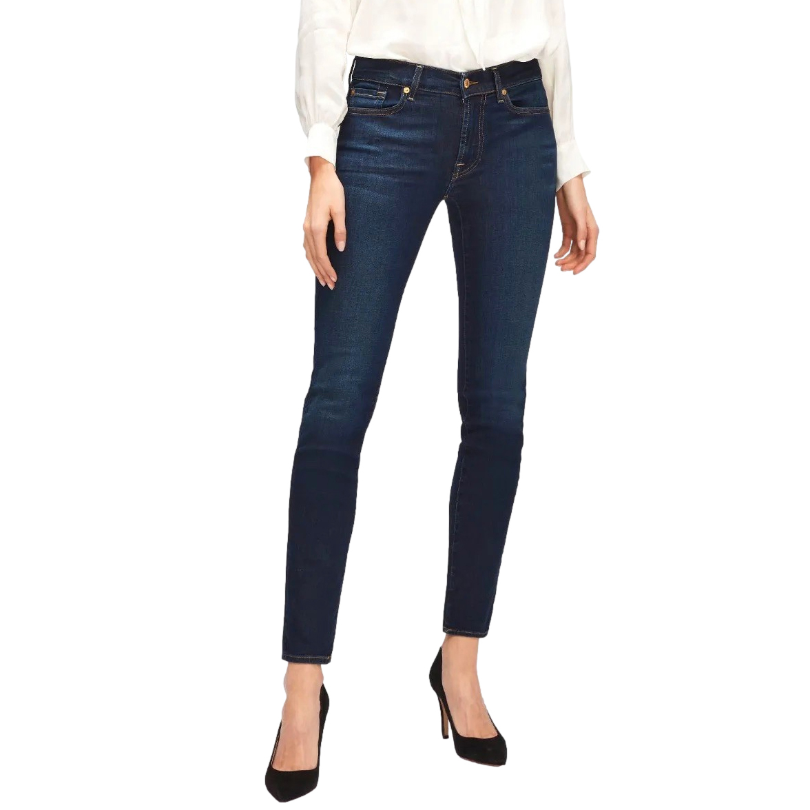 7 For All Mankind Illusion Luxe Blue Jeans