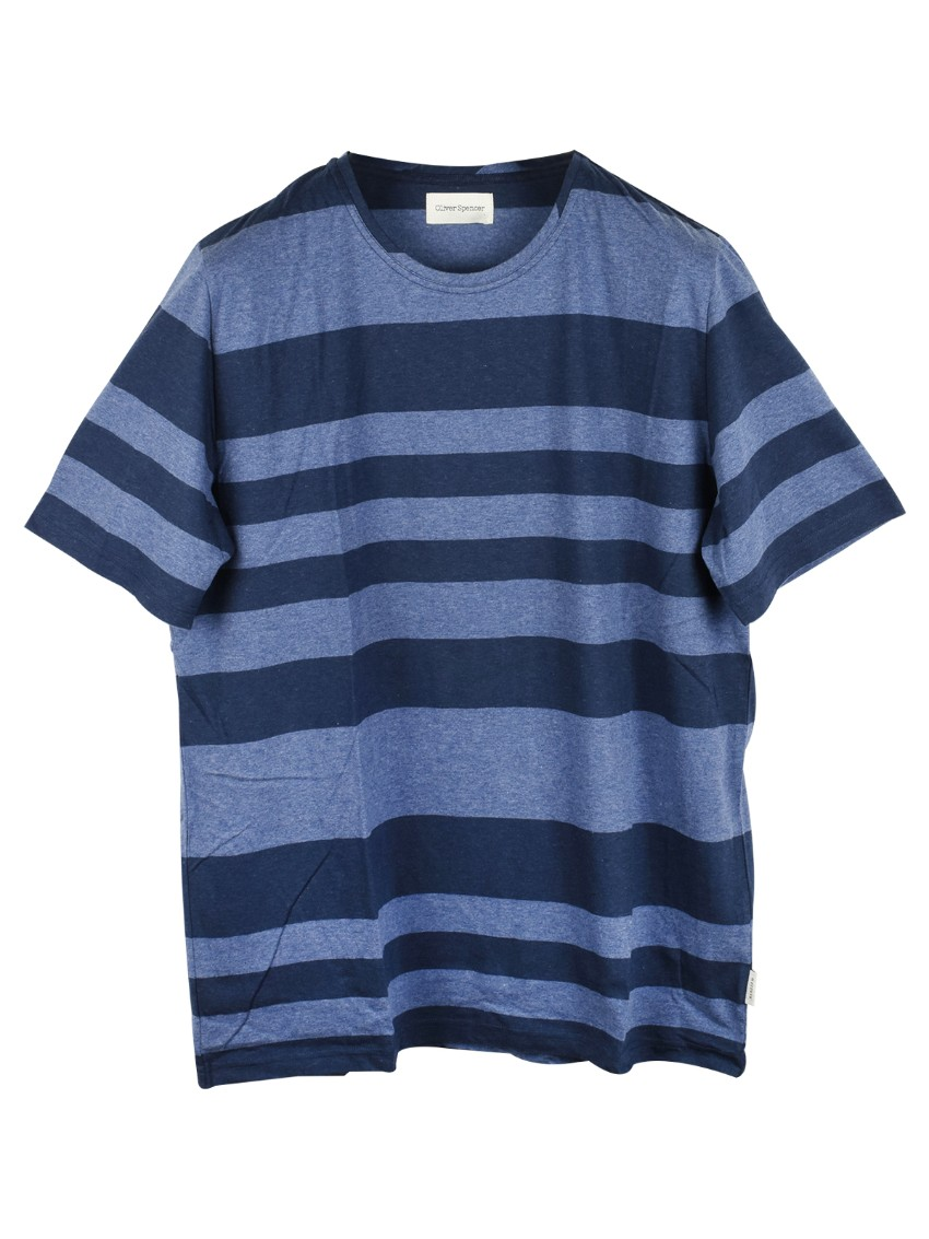 Oliver Spencer Navy Striped Top