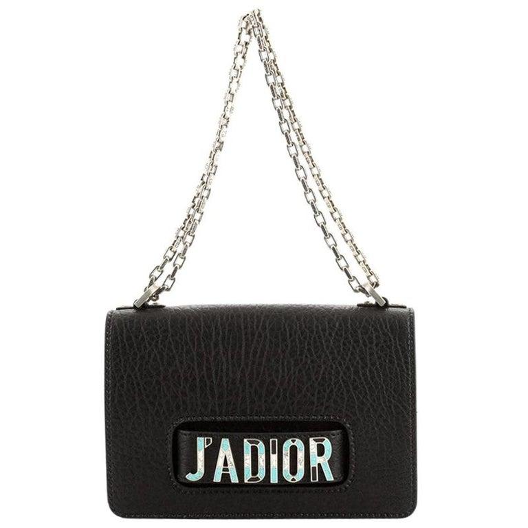 Dior Black Grained Leather J'adior Flap Bag