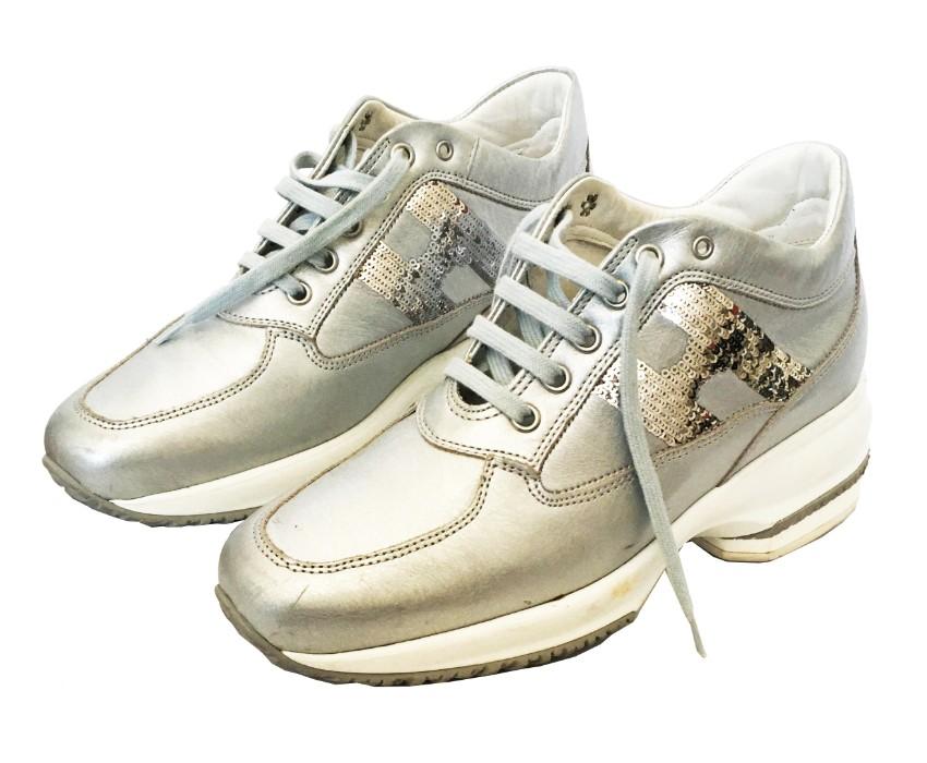 Hogan Metallic Sequin Interactive Sneakers
