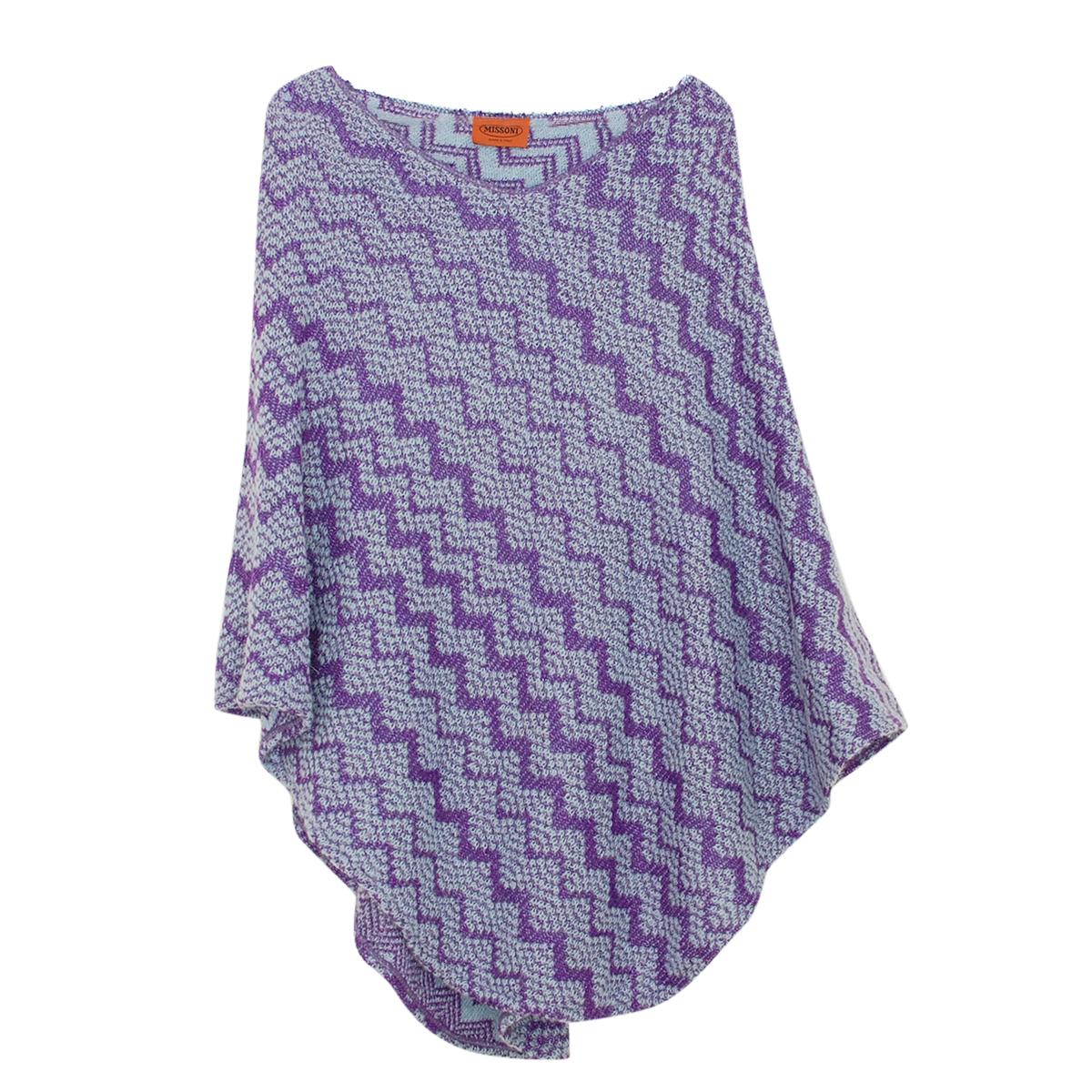 Missoni Purple Mohair Blend Poncho