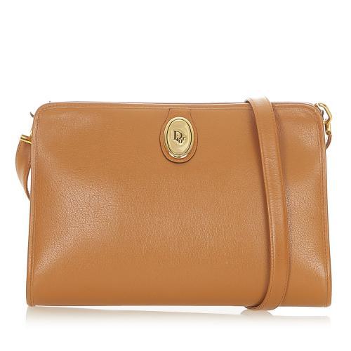 Christian Dior Vintage Camel Leather Crossbody Bag