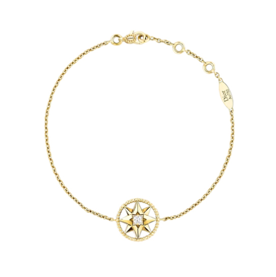 Dior Yellow Gold & Diamond Rose Des Vents Bracelet