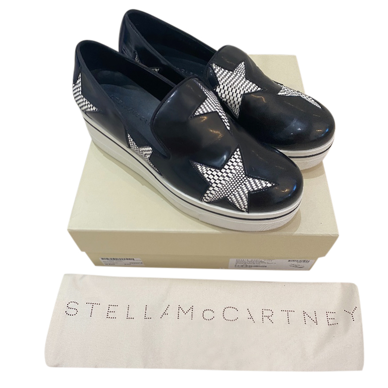 Stella McCartney Faux Leather Slip-On Sneakers