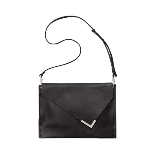 Isabel Marant Black Leather Tryne Shoulder Bag