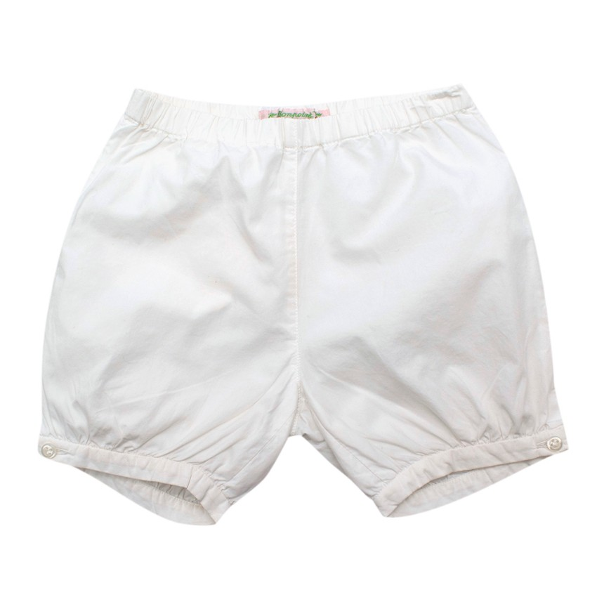 Bonpoint Kids 18M White Cotton Shorts