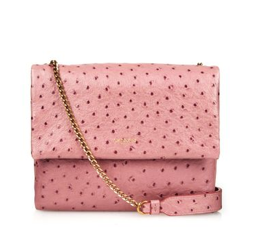 Lanvin Sugar Mini Ostrich-effect Leather Cross-body Bag