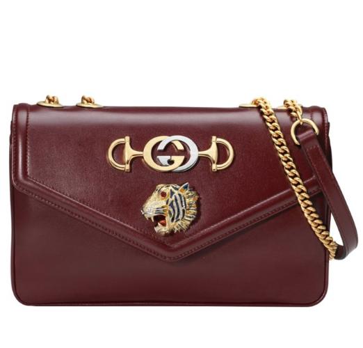 Gucci Oxblood Rajah Medium Shoulder Bag