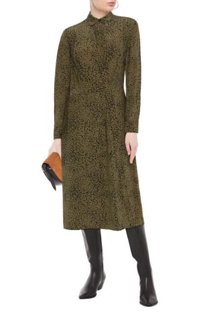 Rag & Bone Karen leopard-print silk crepe de chine midi dress