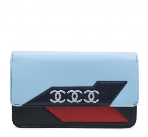 Chanel Colourblock Triple CC Wallet on Chain