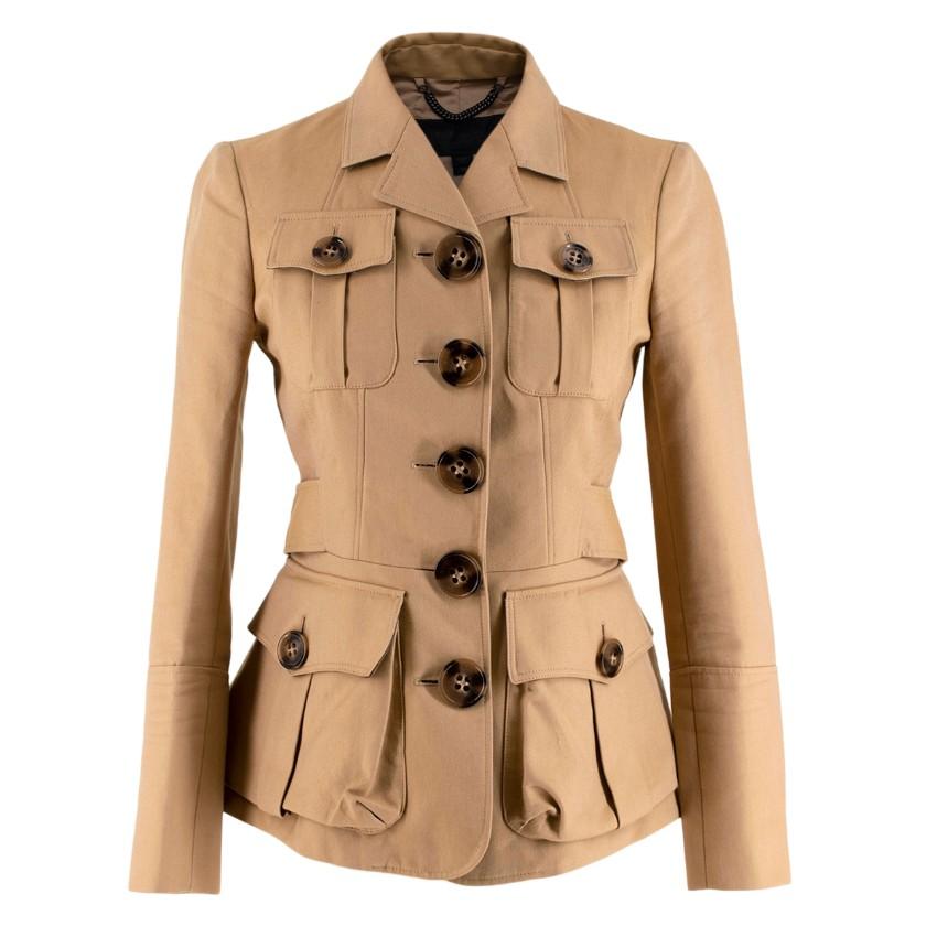 Burberry Prorsum Beige Tailored Safari Jacket