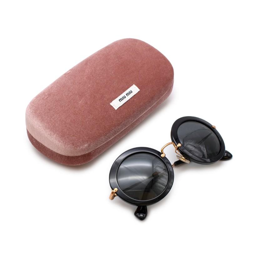 Miu Miu Black Round Sunglasses