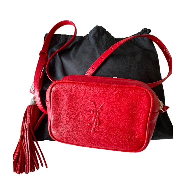 Saint Laurent Red Monogram Blogger Bag