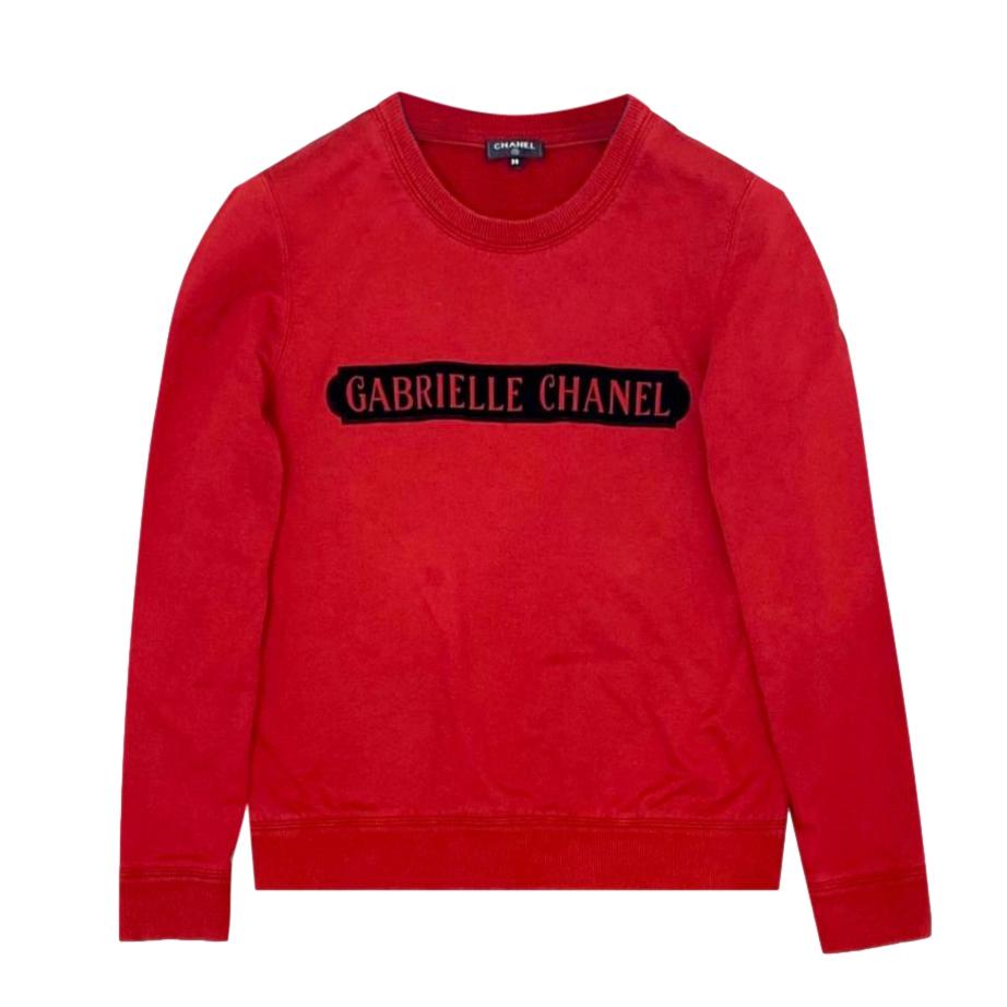 Chanel Red Gabrielle Chanel Sweatshirt