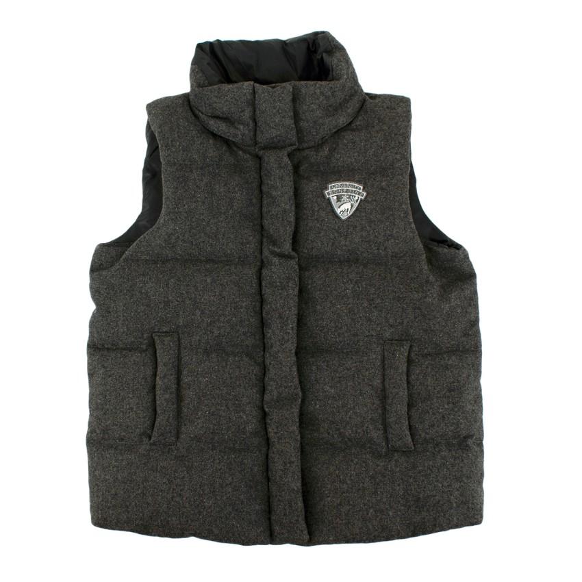 Bonpoint Grey Wool Ski University Down Vest