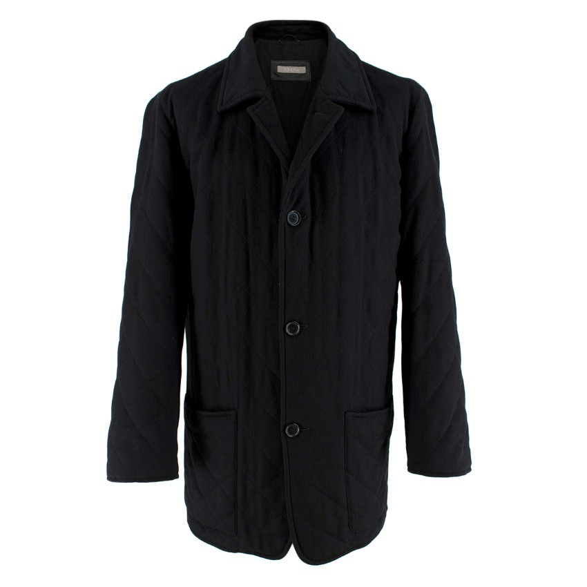 Agnona Black Cashmere Blend Coat