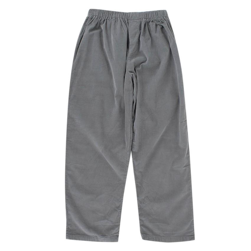 Mirella Ferrari Grey Corduroy Trousers