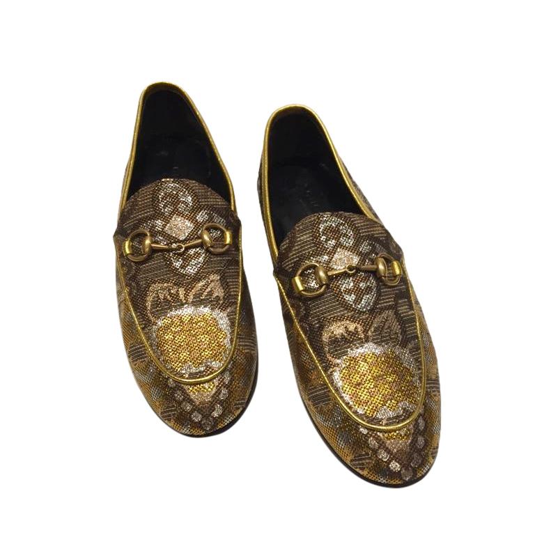Gucci Jacquard Jordaan Loafers